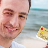 Kunde mit Kreditkarte